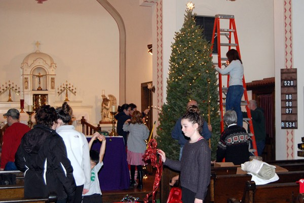 St. William Church 2015 Christmas Decorating