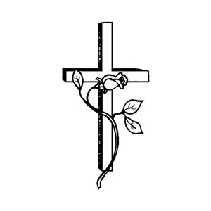 Sketch representing Christian funeral