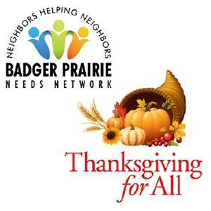 Badger Prairie Needs Network Thanksgiving Meal Drive